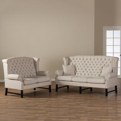 Colegrove 2 Piece Living Room Set Upholstery: Beige