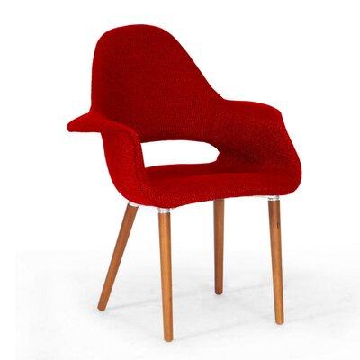 Calla Twill Mid-Century Style Arm Chair