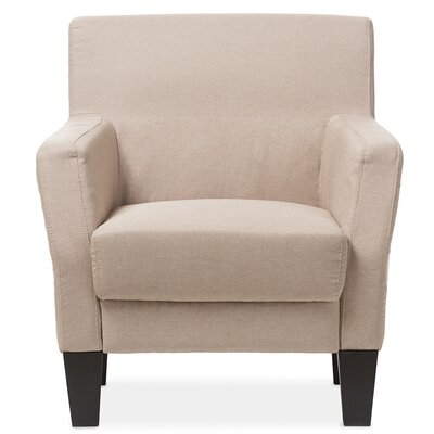 Calla Silhouettes Club Chair Finish: Beige
