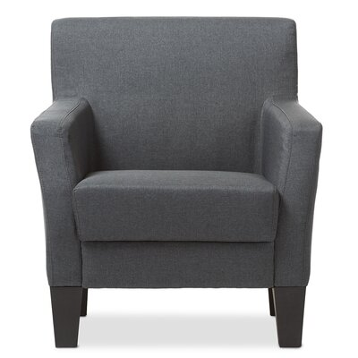 Calla Silhouettes Armchair Finish: Gray