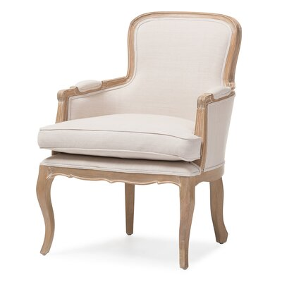 Calla Traditional French Armchair Finish: Oak