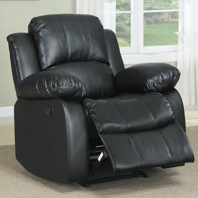 Iris Manual Glider Recliner Upholstery: Black