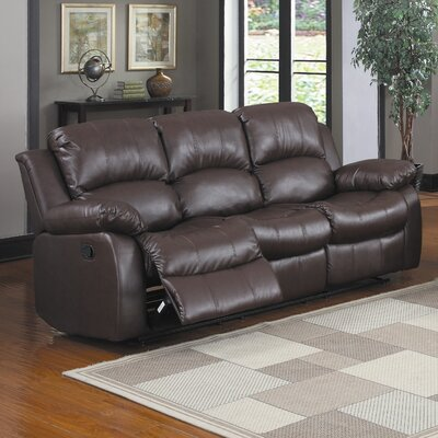 Iris Reclining Sofa Upholstery: Brown