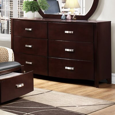 Rushmere 6 Drawer Double Dresser