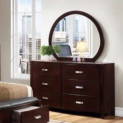 Rushmere 6 Drawer Double Dresser with Mirror