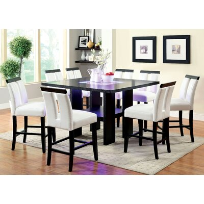 Equuleus 9 Piece Counter Height Pub Dining Set