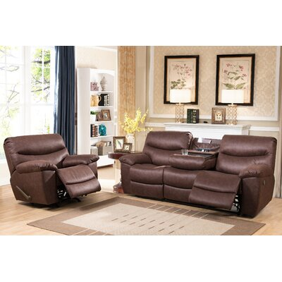 Efimov Fabric Sofa and Recliner Set