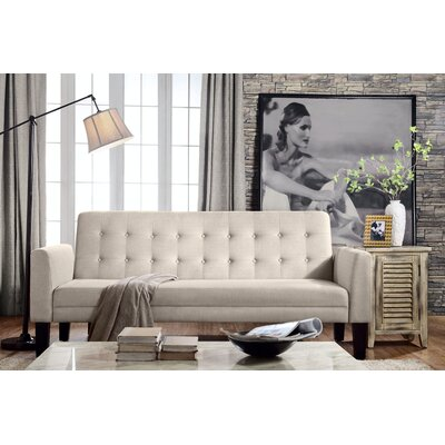 Greg Tufted Sleeper Sofa Upholstery: Natural Beige