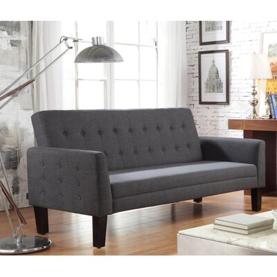 Greg Tufted Sleeper Sofa Upholstery: Charcoal