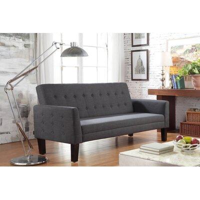 Fomalhaut Tufted Sleeper Sofa Upholstery: Charcoal
