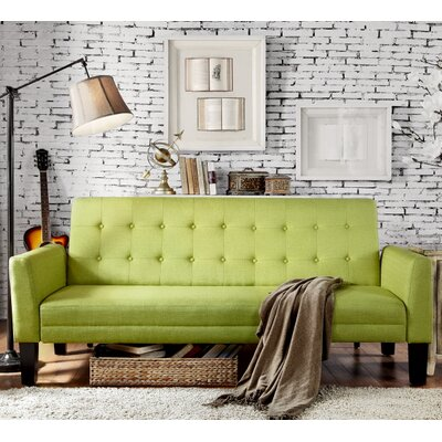 Greg Tufted Sleeper Sofa Upholstery: Pear Green