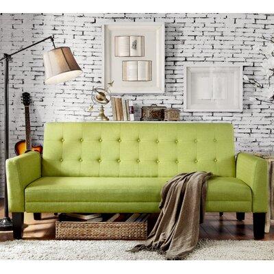 Greg Tufted Sleeper Sofa Upholstery: Pear Green