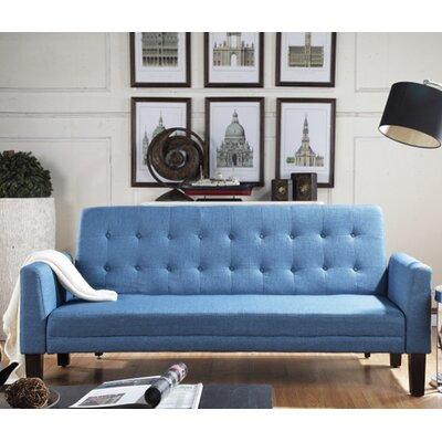 Greg Tufted Sleeper Sofa Upholstery: Aqua Blue