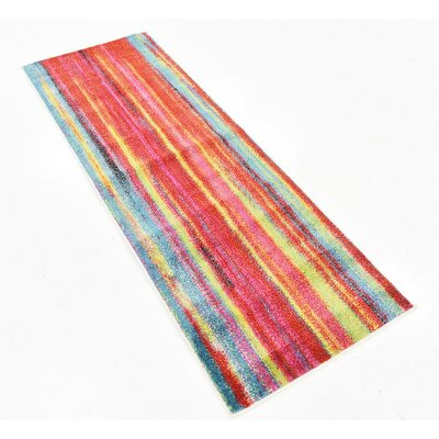 Elvia Blue/Red Area Rug Rug Size: Rectangle 6 x 2