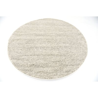 St Philips Marsh Cream Area Rug Rug Size: Round 6
