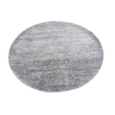 St Philips Marsh Dark Gray Area Rug Rug Size: Round 6