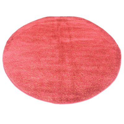St Philips Marsh Red Area Rug Rug Size: Round 6