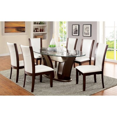 Cushing 7 Piece Dining Set Finish: White