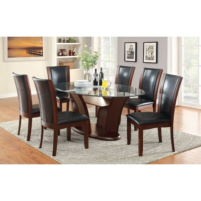 Cushing 7 Piece Dining Set Finish: Espresso