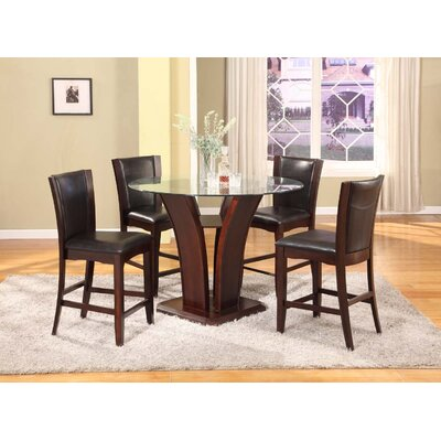 Herculis 5 Piece Counter Height Dining Set