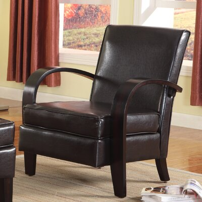 Papillion Bonded Arm Chair Upholstery: Brown