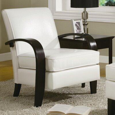 Strayer Bonded Armchair Upholstery: White