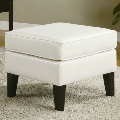 Papillion Ottoman Upholstery: White