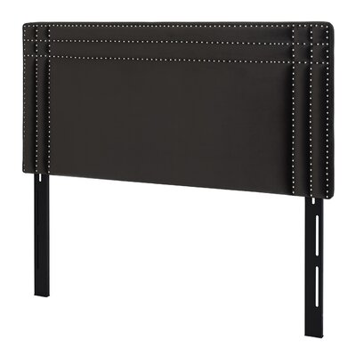 Rosario Upholstered Panel Headboard Size: King, Upholstery: Dark Charcoal Grey