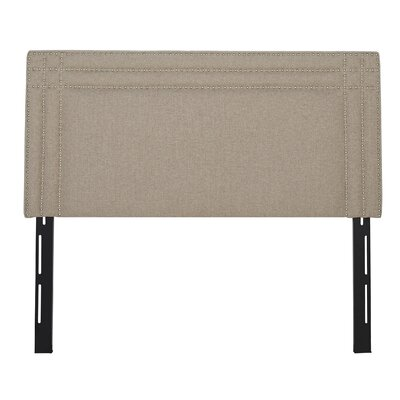 Rosario Upholstered Panel Headboard Size: Queen, Upholstery: Taupe