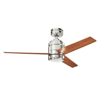 Lacerta 3-Blade Ceiling Fan Motor Finish: Polished Nickel