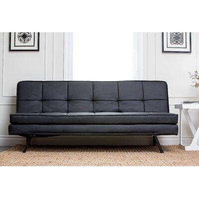 Twedt Convertible Sofa Upholstery: Black