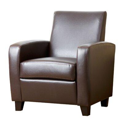 Hydrus Club Chair Color: Dark Brown