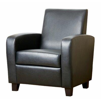 Hydrus Club Chair Color: Black