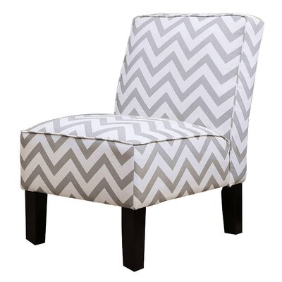 Indus Chevron Slipper Chair Color: Grey