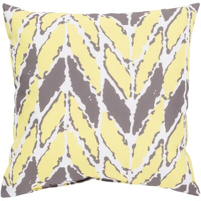 Kelston Outdoor Throw Pillow Size: 18 H x 18 W x 4 D, Color: Yellow/Light Gray