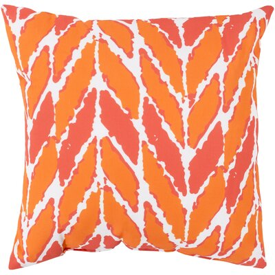Kelston Outdoor Throw Pillow Color: Orange/Coral, Size: 20 H x 20 W x 4 D