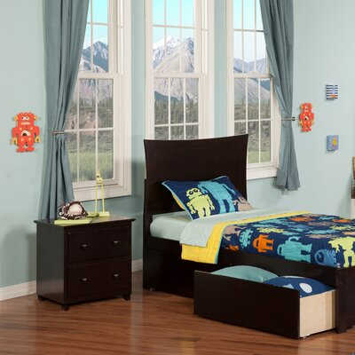 Amy Twin Mates & Captains Bed with Storage Finish: Espresso
