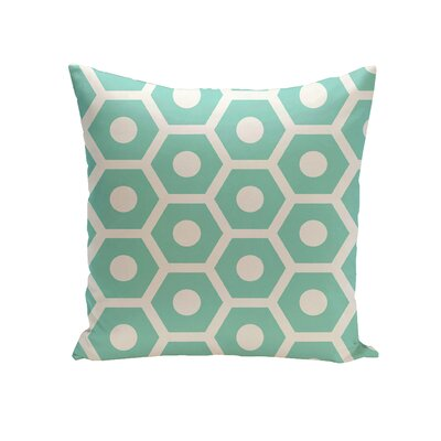 Elverton Geometric Decorative Outdoor Pillow Size: 18 H x 18 W x 3 D, Color: Aqua