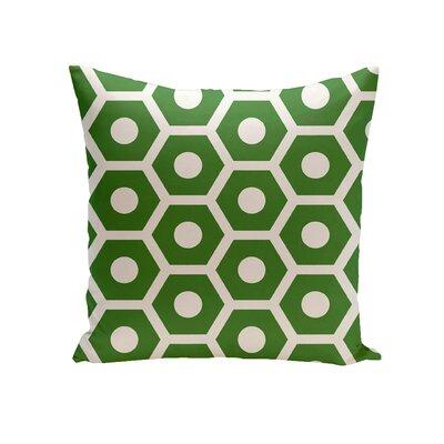 Elverton Geometric Decorative Outdoor Pillow Size: 18 H x 18 W x 3 D, Color: Leaf