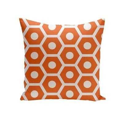 Elverton Geometric Decorative Outdoor Pillow Color: Orange, Size: 16 H x 16 W x 3 D