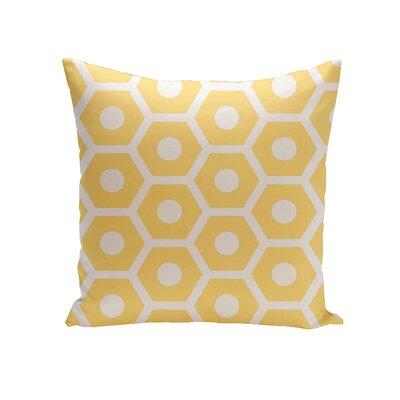 Elverton Geometric Decorative Outdoor Pillow Size: 18 H x 18 W x 3 D, Color: Lemon
