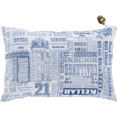 Twerton Cotton Pillow Cover Size: 18 H x 18 W x 1 D, Color: Blue