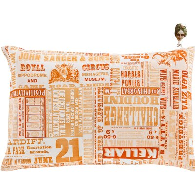 Twerton Cotton Pillow Cover Size: 18 H x 18 W x 1 D, Color: Orange