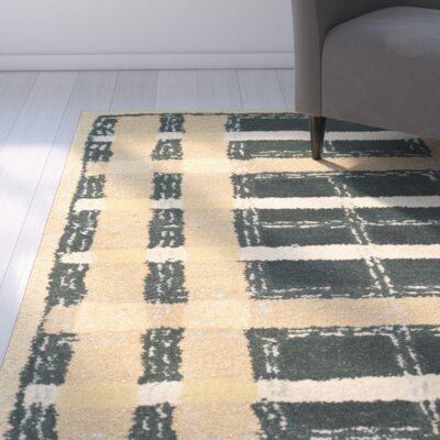 Hand-Tufted Cornucopia Gold Area Rug Rug Size: Rectangle 26 x 43