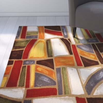 Claireville Orange/Brown Area Rug Rug Size: Rectangle 5 x 8