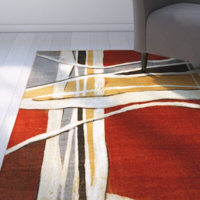 York Red Area Rug Rug Size: Rectangle 8 x 11