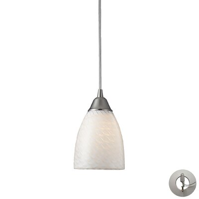 Ammara 1-Light Mini Pendant Shade Color: White Swirl