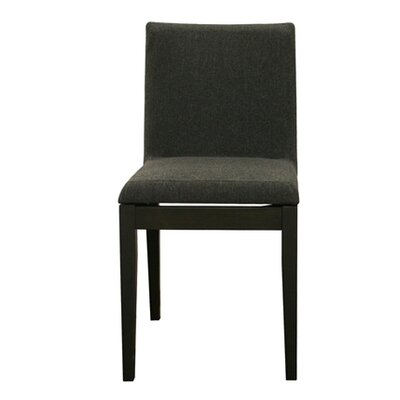 Pericles Square Parsons Chair Chair Upholstery: Black