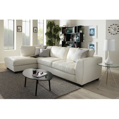Serpens Sectional Upholstery: White, Orientation: Left Hand Facing