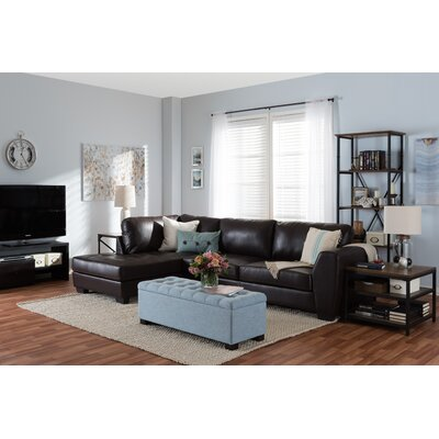Serpens Sectional Upholstery: Brown, Orientation: Left Hand Facing